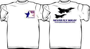 Never Fly Solo t-shirt