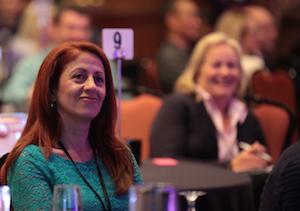 Smiling Audience member at Waldo Wingman Event